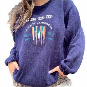 IZOD Retro Embroidered Emblem Pullover